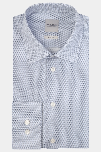 Savoy Taylors Guild Regular Fit Grey Single Cuff Puppytooth Shirt