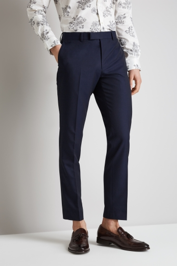 Moss London Skinny Fit Ink Trousers
