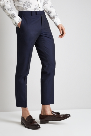 Moss London Skinny Fit Ink Cropped Trousers