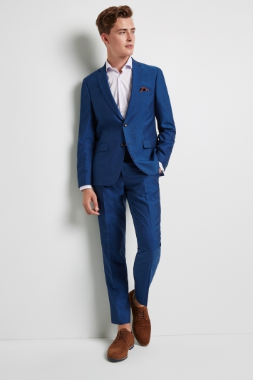 Moss London Skinny Fit Peacock Blue Jacket