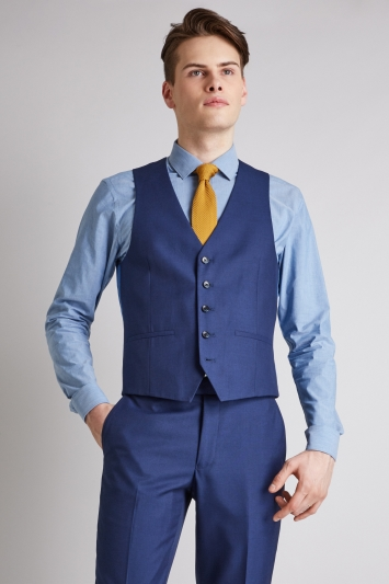 Moss London Skinny/Slim Fit Blue Jacket