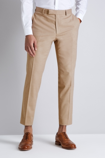 Moss London Skinny Fit Cappuccino Cropped Trousers