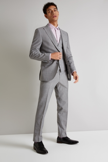 French Connection Slim Fit Light Grey Marl Jacket
