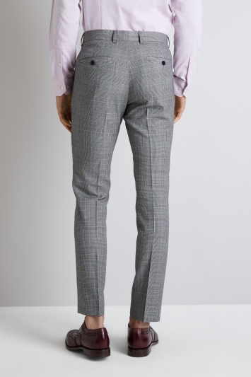 c72c0590c7e5 Moss London Skinny Fit Black and White Prince of Wales Check Trousers