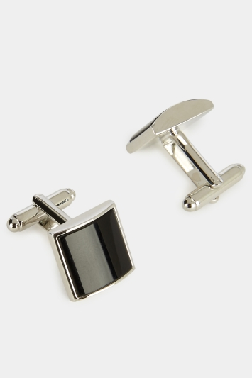 Hardy Amies Black Square Onyx Cufflinks