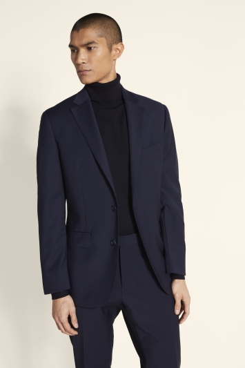 ce389ff0f8fb83 Moss 1851 Performance Tailored Fit Navy Jacket