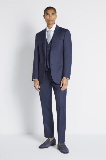 Savoy Taylors Guild Regular Fit Navy Twill Jacket