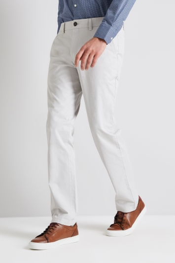 Moss 1851 Tailored Fit Chalk Stretch Chino