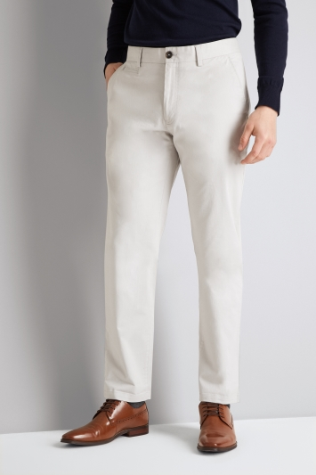 Moss 1851 Tailored Fit Stone Stretch Chino