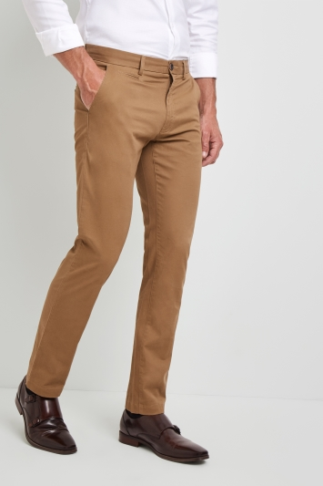 Moss 1851 Tailored Fit Tobacco Stretch Chino