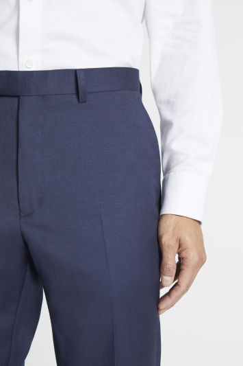 Savoy Taylors Guild Regular Fit Navy Twil Trouser
