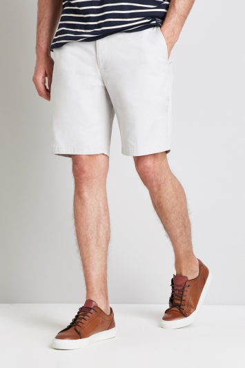 Moss 1851 Tailored Fit Chalk Stretch Chino Shorts