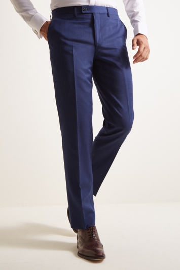 Ted Baker Tailored Fit Bright Blue Pindot Trousers