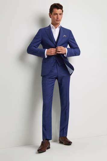 Ted Baker Tailored Fit Iris Blue Twill Jacket