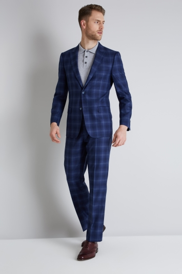 Ted Baker Tailored Fit Blue Bold Check Jacket