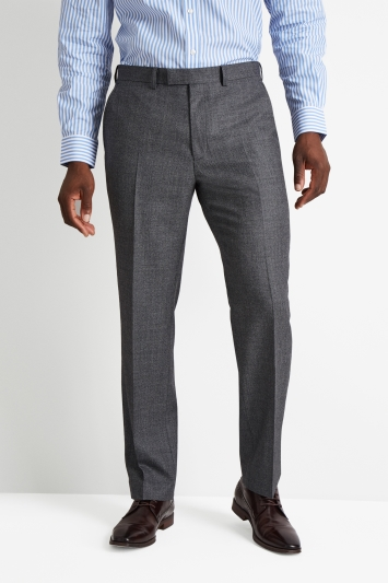 Savoy Taylors Guild Regular Fit Charcoal Birdseye Trouser