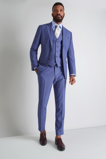 Moss 1851 Tailored Fit Blue Lagoon Jacket