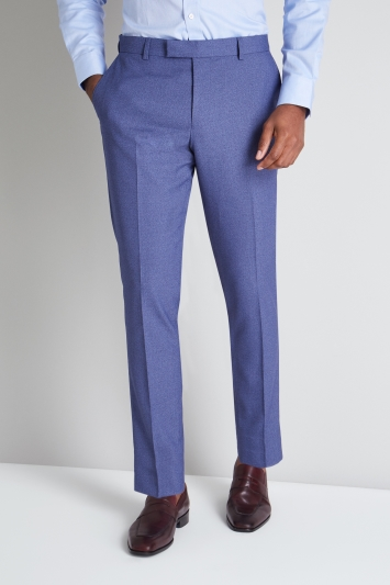 Moss 1851 Tailored Fit Blue Lagoon Trouser