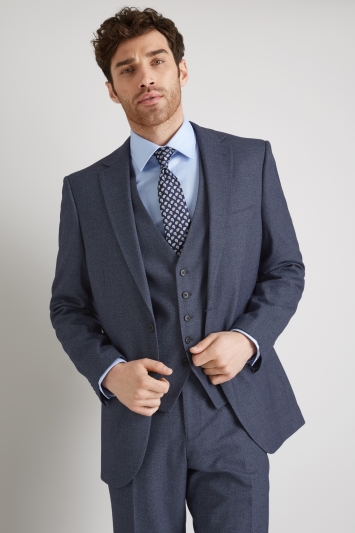 Moss Esq. Regular Fit Navy Salt and Pepper Jacket