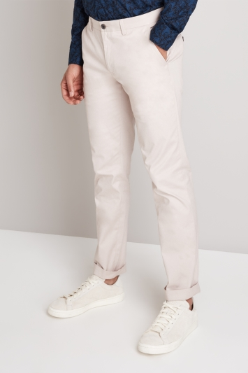Moss London Skinny Fit Light Pink Stretch Chino