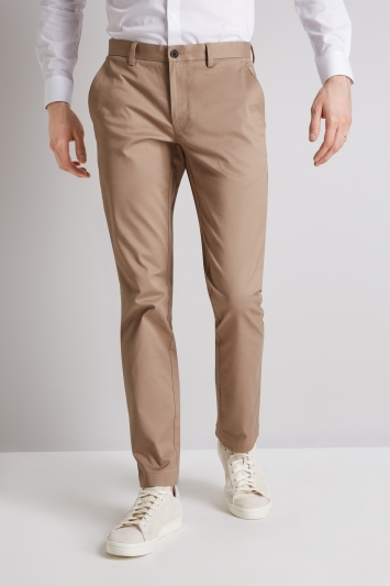 Moss London Skinny Fit Sand Stretch Chino