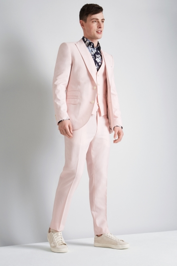 French Connection Slim Fit Light Pink Jacket