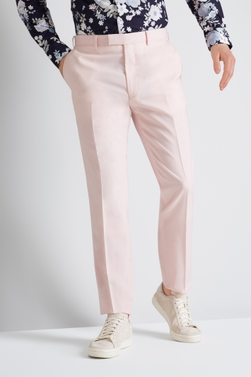 French Connection Slim Fit Light Pink Trousers