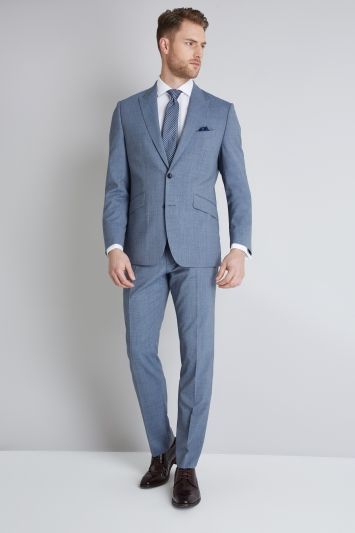 Lanificio F.lli Cerruti Dal 1881 Cloth Tailored Fit Light Blue Texture iTravel Jacket