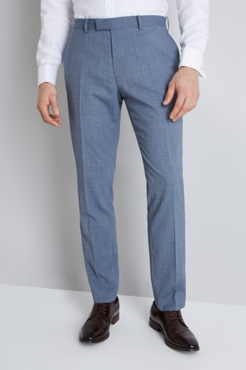 Lanificio F.lli Cerruti Dal 1881 Cloth Tailored Fit Light Blue Texture iTravel Trouser