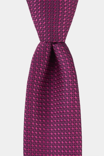 Moss London Pink Textured Tie