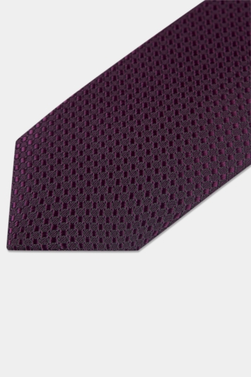 Moss London Purple Textured Tie