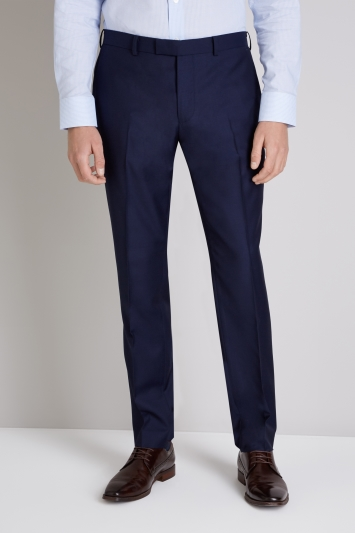 Ermenegildo Zegna Cloth Tailored Fit Naples Blue Trouser