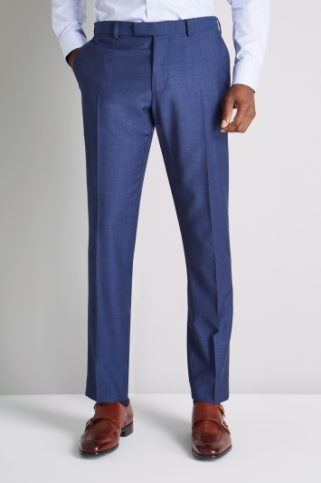 Ermenegildo Zegna Cloth Tailored Fit Blue Semi Plain Trouser