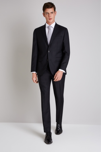 Ermenegildo Zegna Cloth Tailored Fit Black Jacket