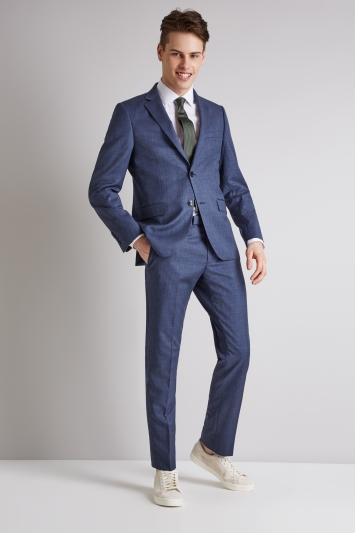 DKNY Slim Fit Ocean Blue Jacket