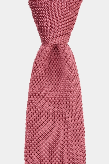 Moss 1851 Pink Knitted Silk Tie