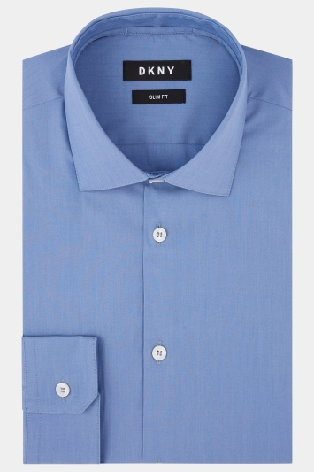 DKNY Slim Fit Petrol Single Cuff Stretch Shirt