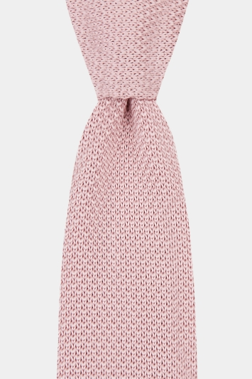 Moss London Pink Knitted Tie