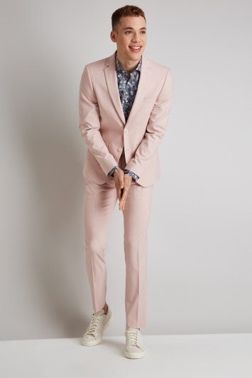 Moss London Skinny Fit Dusty Pink Jacket