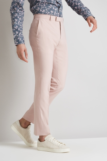 Moss London Skinny Fit Dusty Pink Trousers