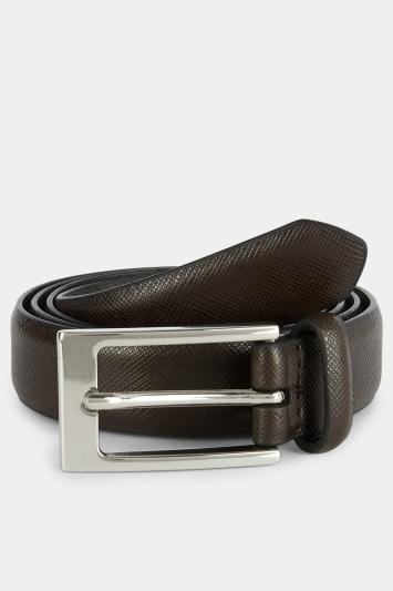 Moss London Brown Skinny Belt