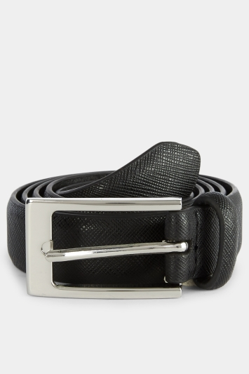 Moss London Black Skinny Belt
