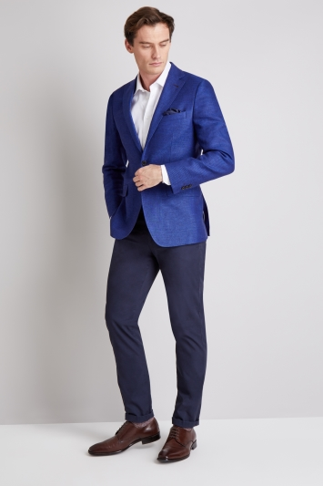 Moss 1851 Bright Blue Texture Jacket