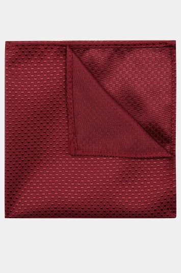 Moss London Wine Textured Pocket Square