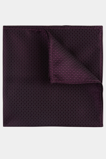 Moss London Purple Textured Pocket Square