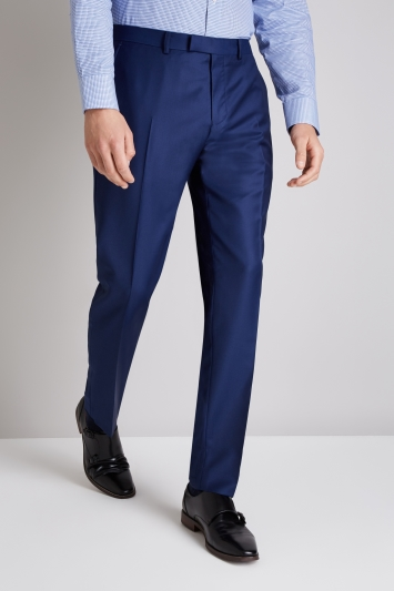 Ermenegildo Zegna Cloth Tailored Fit Bright Blue Twill Trouser
