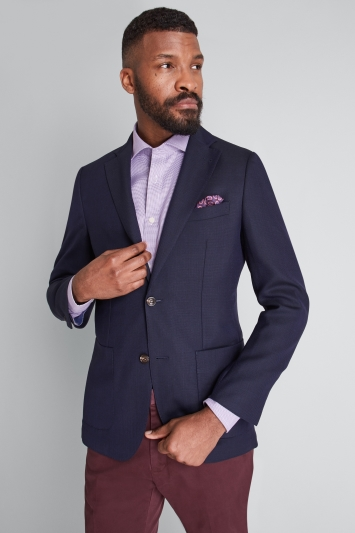 c6a3ef3b2b Moss 1851 Tailored Fit Navy Travel Blazer