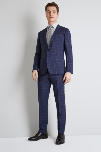 HUGO by Hugo Boss Blue Windowpane Jacket
