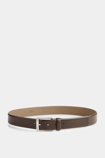 HUGO by Hugo Boss Tumbled Leather Brown Belt