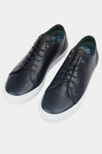 Ted Baker Duuke 2 Midnight Blue Leather Trainer
